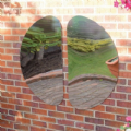 Curvy Outdoor Mirrors Pack of 2,Outdoor mirrors,outdoor sensory mirrors,childrens sensory mirrors,outdoor childrens mirrors